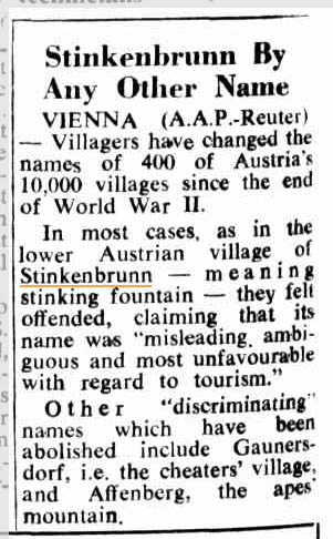 19630315canberraTimes Stinkenbrunn Name